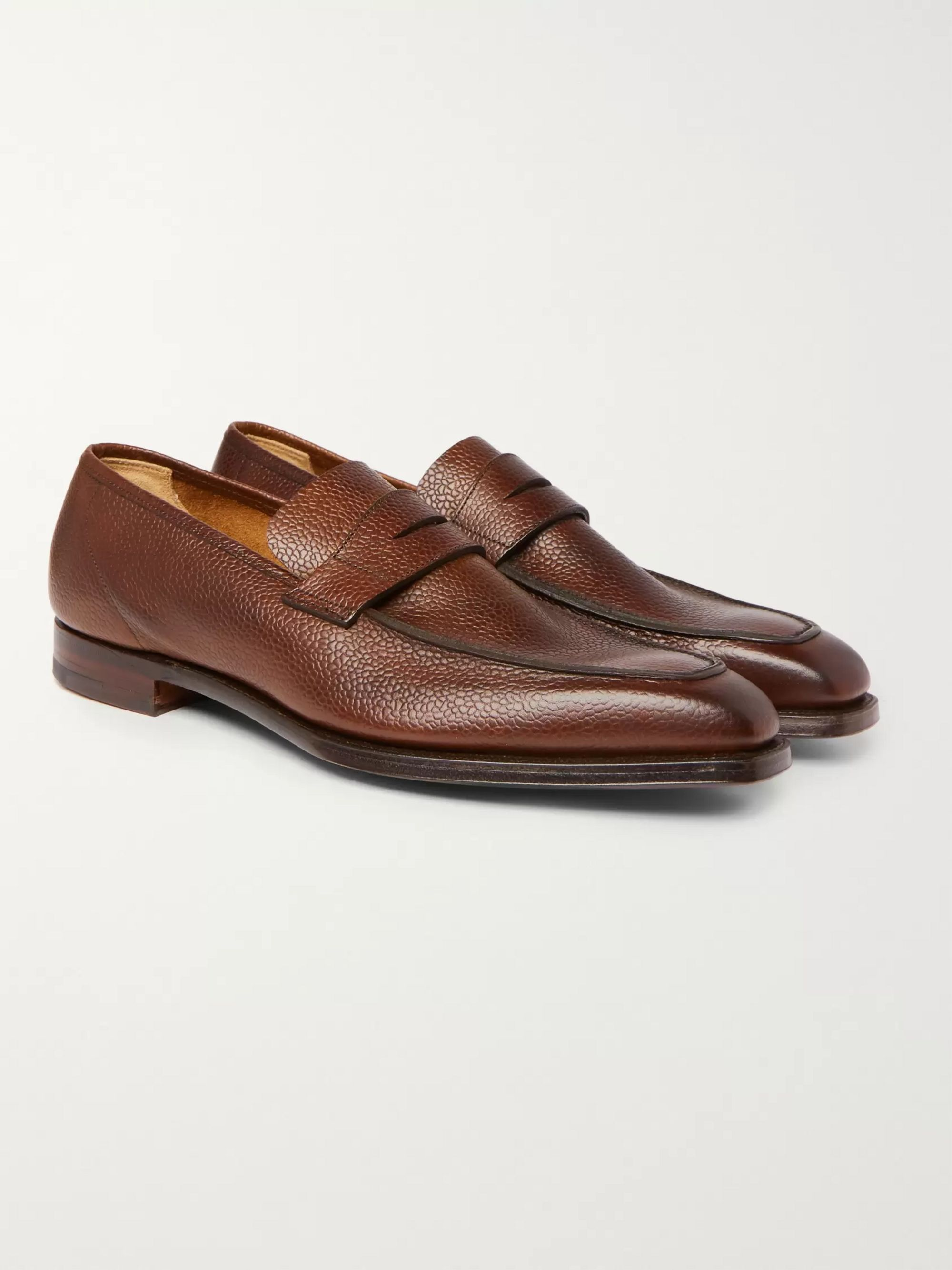George Cleverley George Leather Penny Loafers