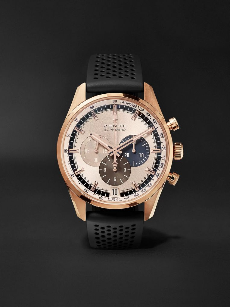 Zenith El Primero Chronomaster 1969 42mm Rose Gold and Rubber Watch, Ref. No. 18.2043.400/69.R576