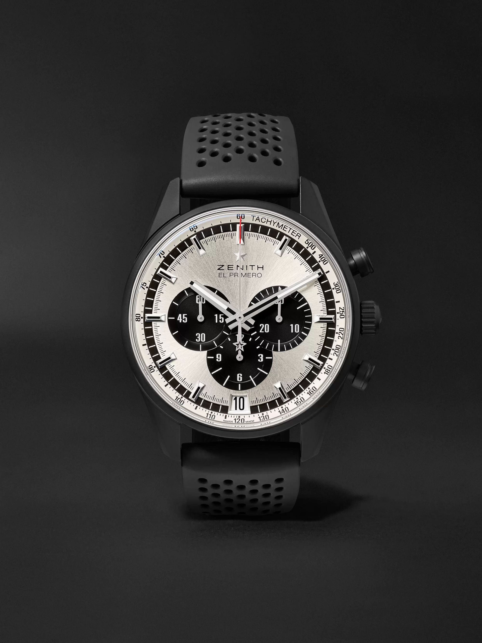 Zenith El Primero Chronomaster 1969 42mm Ceramicised Aluminium and Rubber Watch, Ref. No. 24.2041.400/21.R576