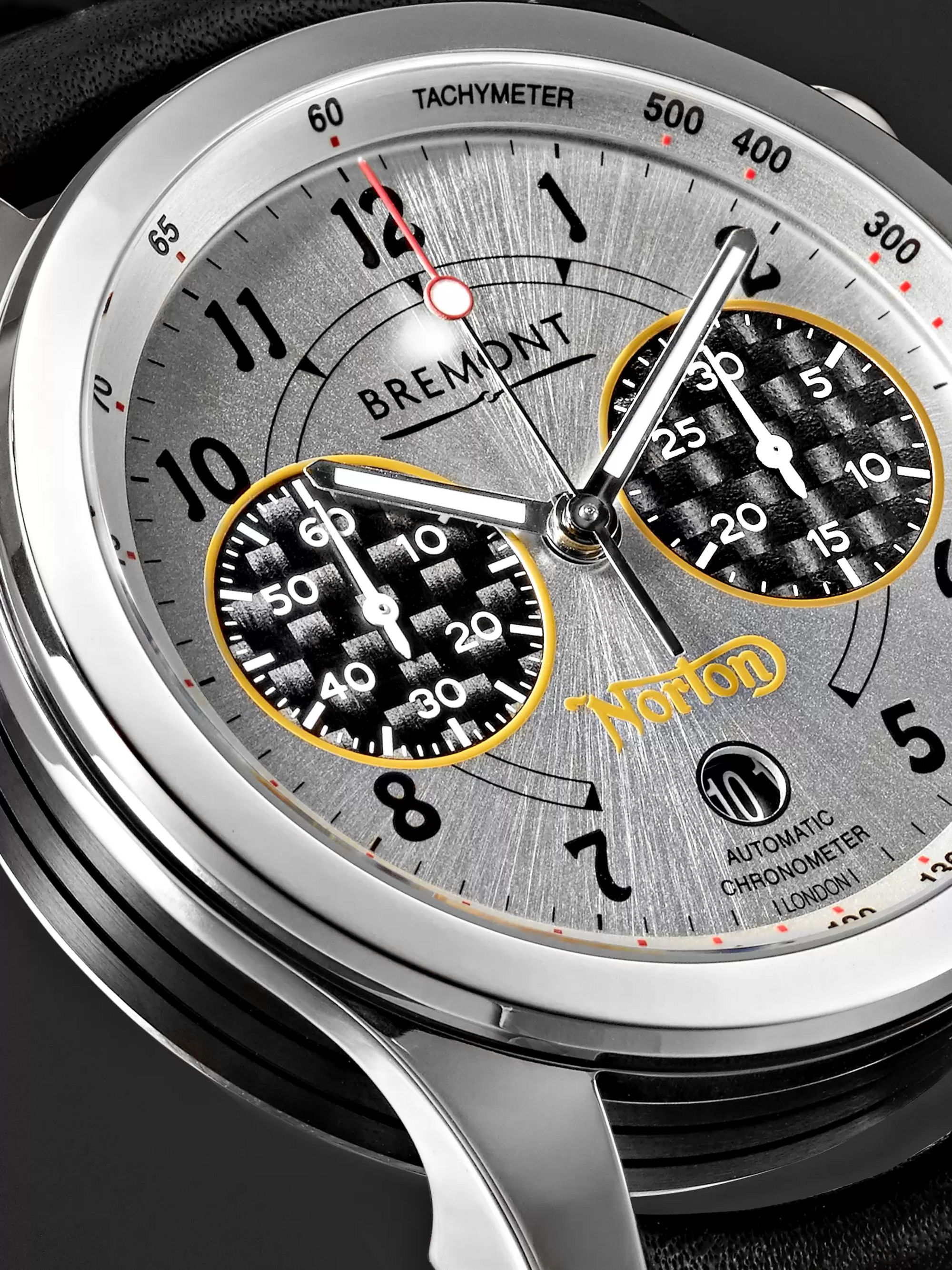 Bremont Norton V4/RR Limited Edition Automatic Chronometer 43mm Stainless Steel and Leather Watch