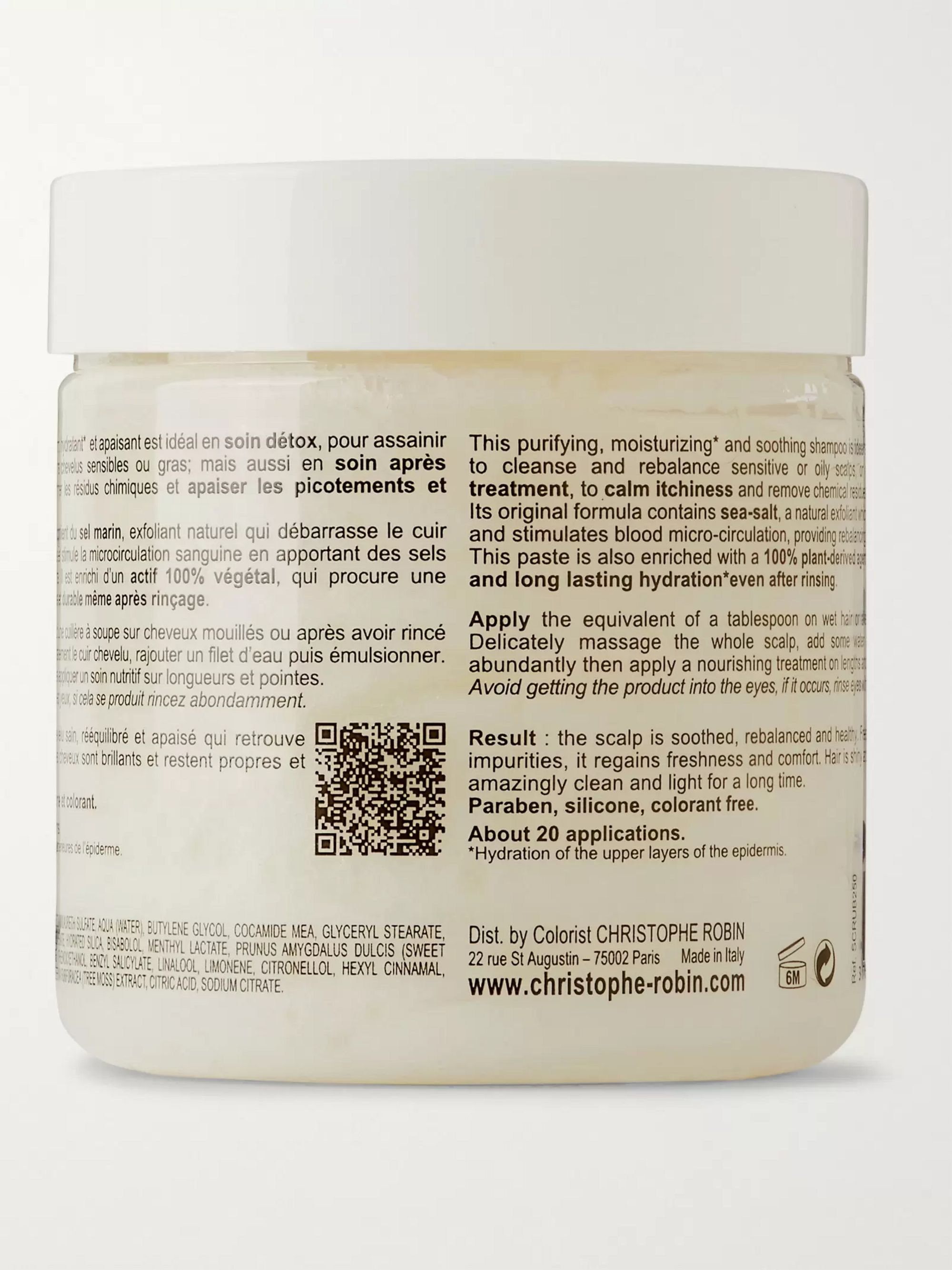 Christophe Robin Cleansing Purifying Scrub with Sea Salt, 250ml