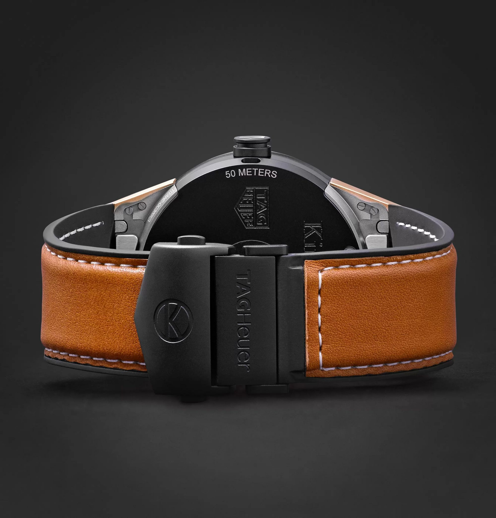 Kingsman x TAG Heuer + TAG Heuer Connected Modular 45mm Ceramic and Leather Smart Watch, Ref. No. SBF8A8023.32EB0103