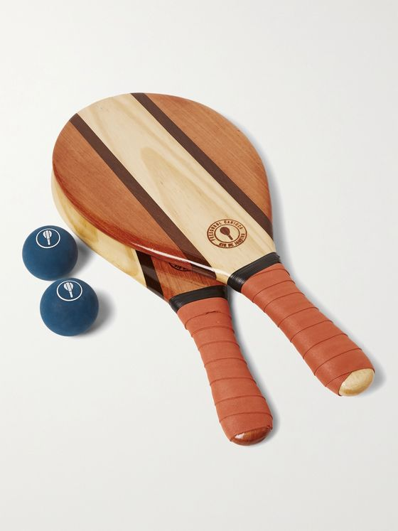 FRESCOBOL CARIOCA Trancoso Wooden Beach Bat and Ball Set
