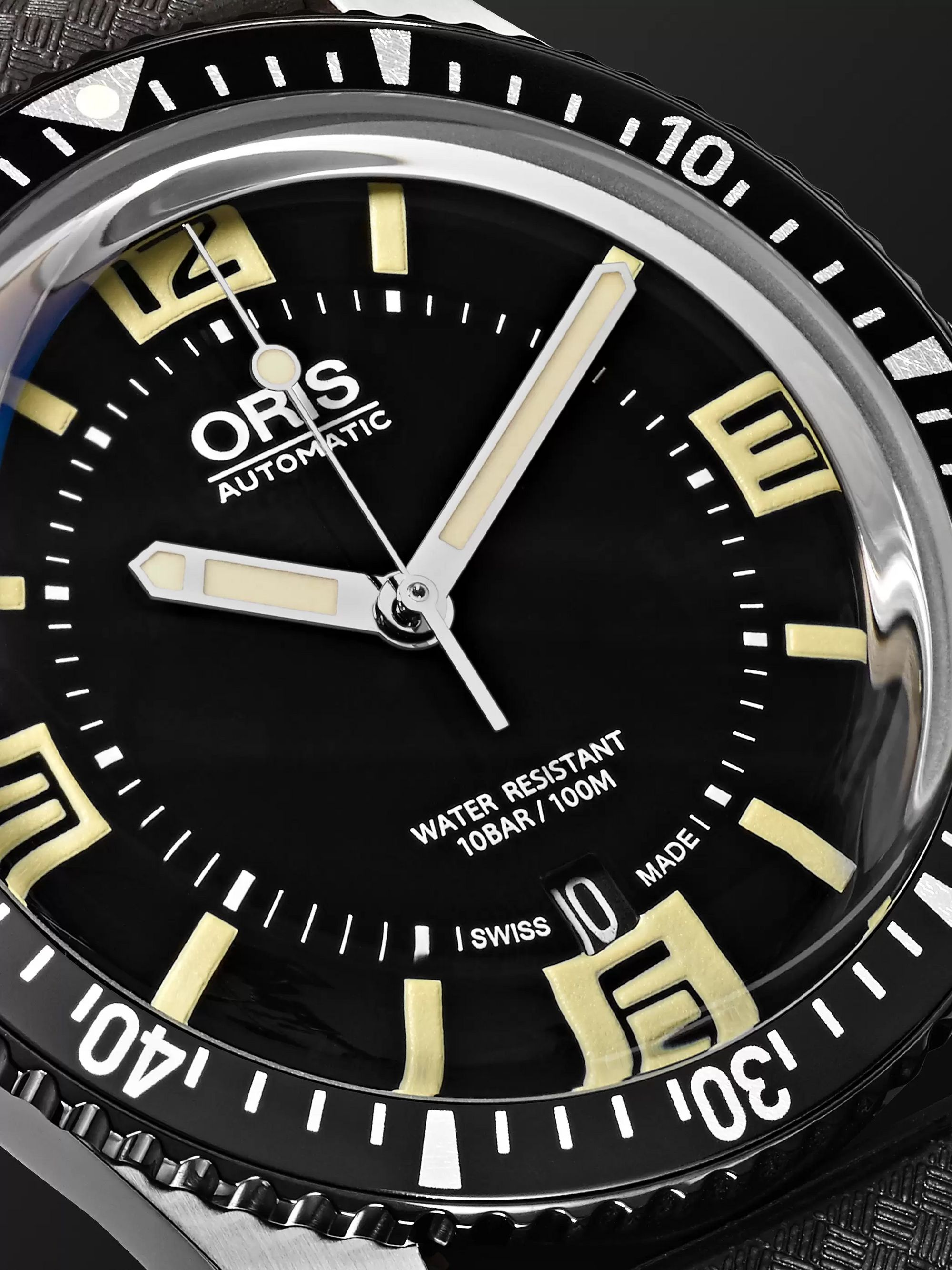 Oris Divers Heritage Sixty-Five Automatic 40mm Stainless Steel and Rubber Watch, Ref. No. 01 733 7707 4064TS