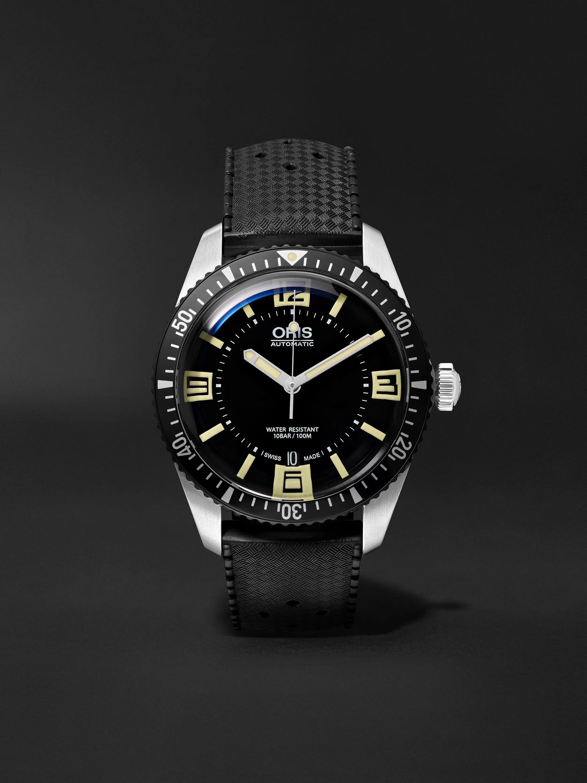 Oris Divers Heritage Sixty-Five 40mm Stainless Steel and Rubber Watch, Ref. No. 01 733 7707 4064TS