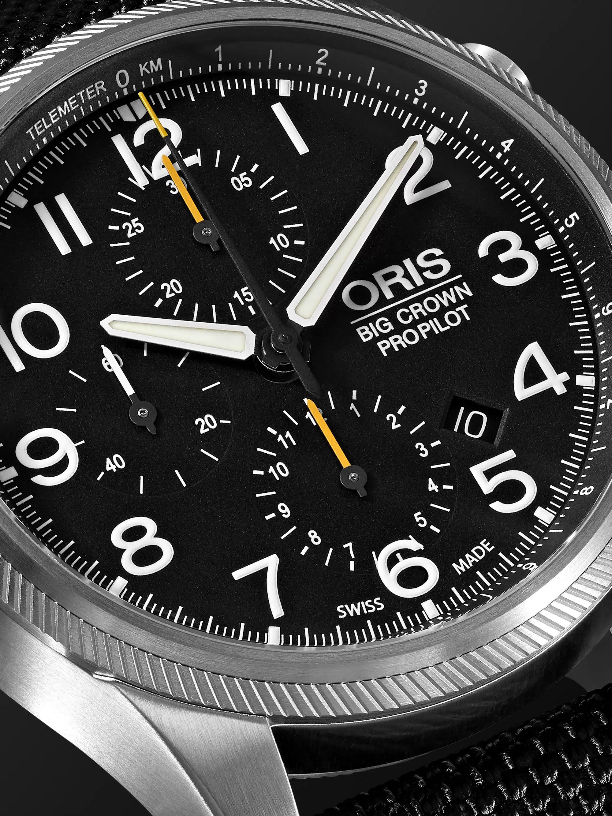 Oris Big Crown ProPilot Chronograph 44mm Stainless Steel and Nylon Watch, Ref. No. 01 774 7699 4134TS