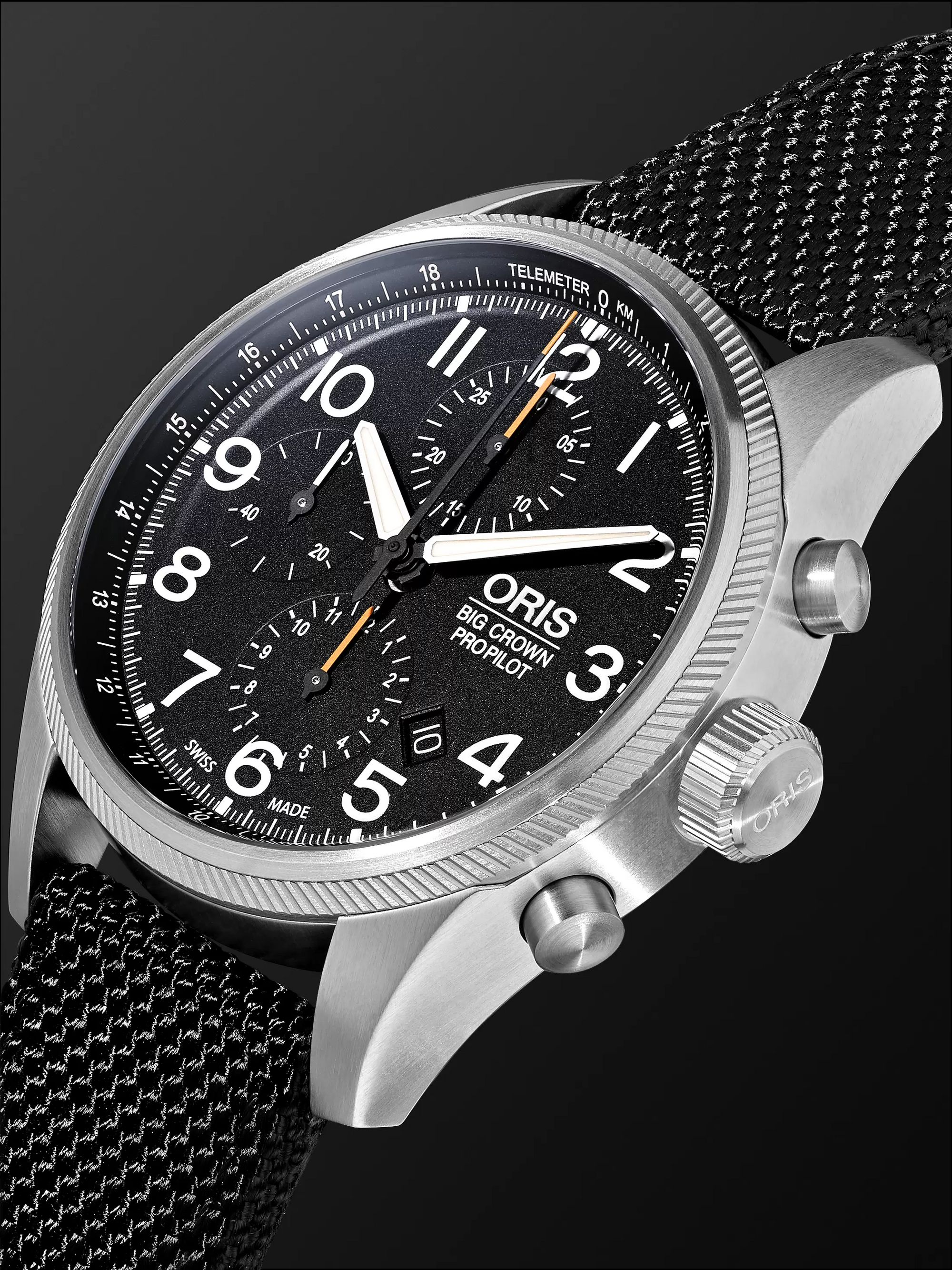 Oris Big Crown ProPilot Automatic Chronograph 44mm Stainless Steel and Nylon Watch, Ref. No. 01 774 7699 4134TS