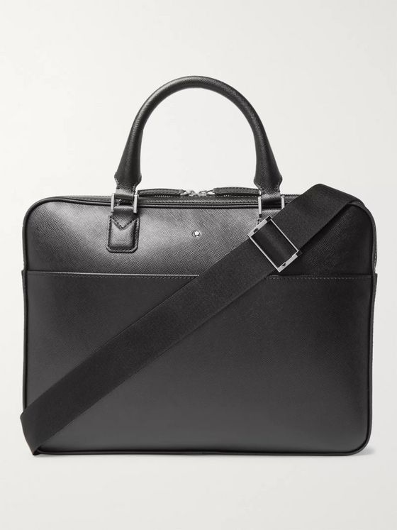 Montblanc Sartorial Cross-Grain Leather Briefcase