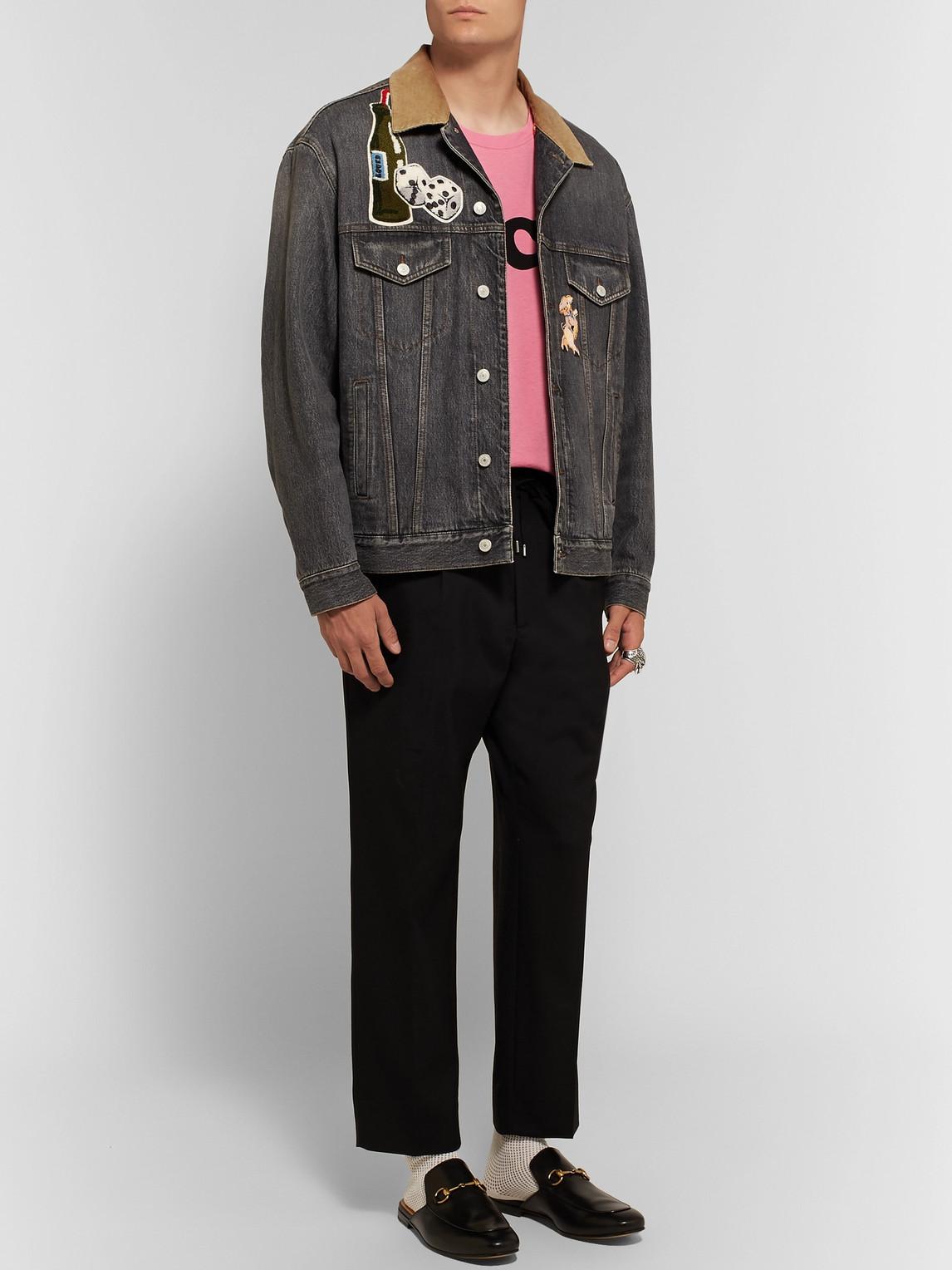 Gucci T-shirts LOGO-PRINT COTTON-JERSEY T-SHIRT