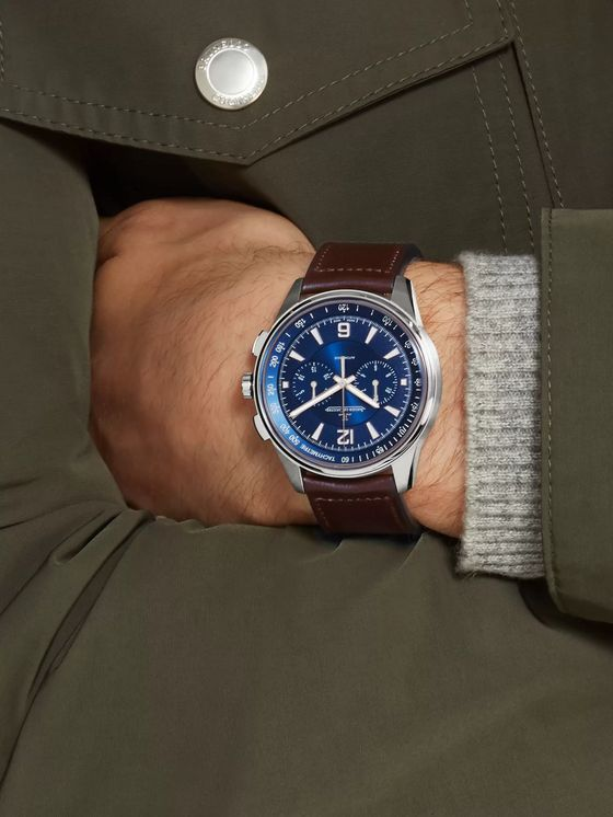 Jaeger-LeCoultre Polaris Chronograph 42mm Stainless Steel and Leather Watch, Ref. No. 9028480