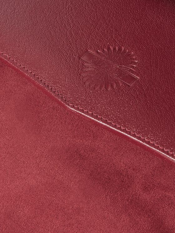 Purdey Textured-Leather Desk Tray