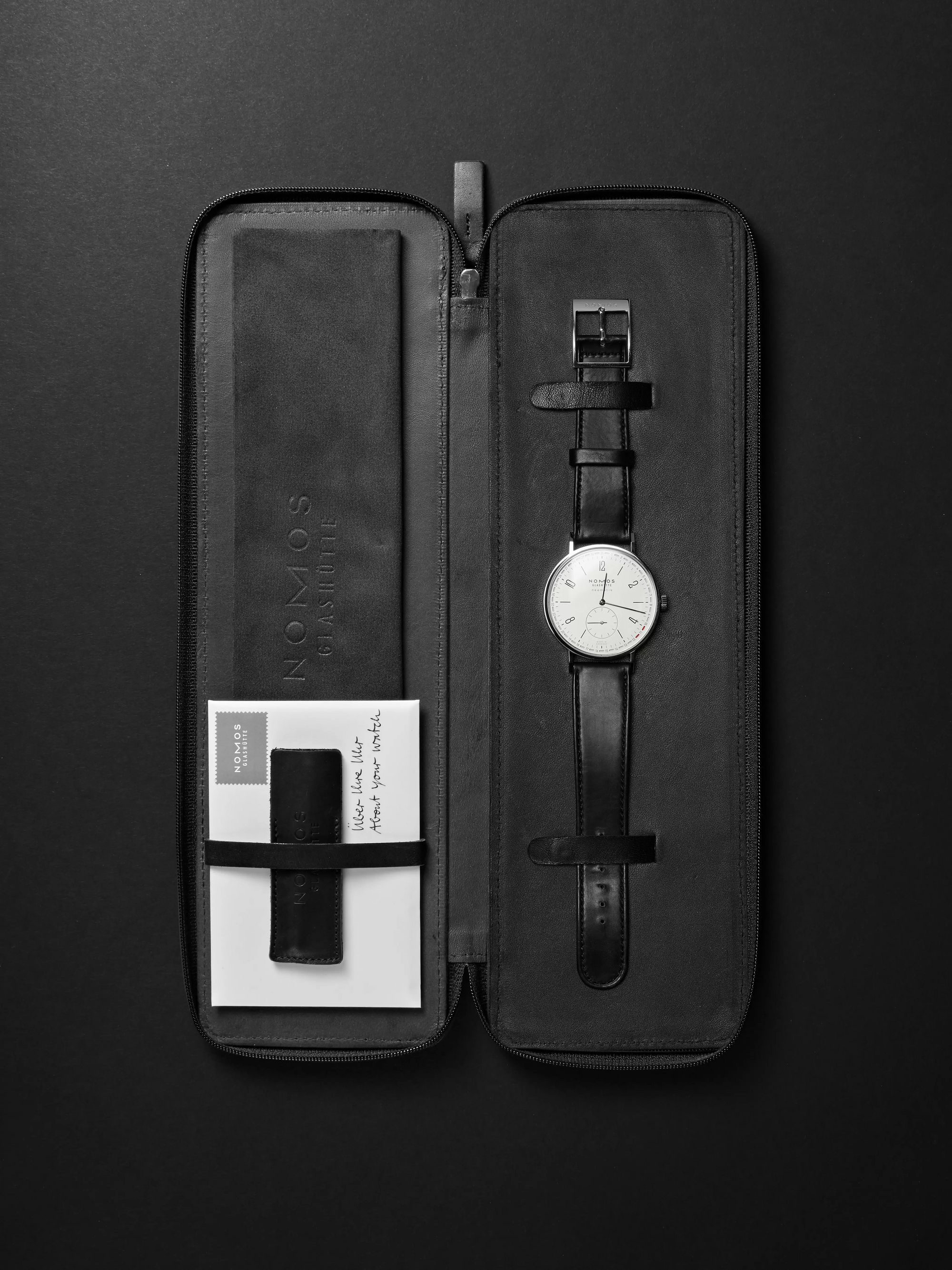 NOMOS Glashütte Tangente Neomatik Automatic 41mm Stainless Steel and Leather Watch, Ref. No. 180