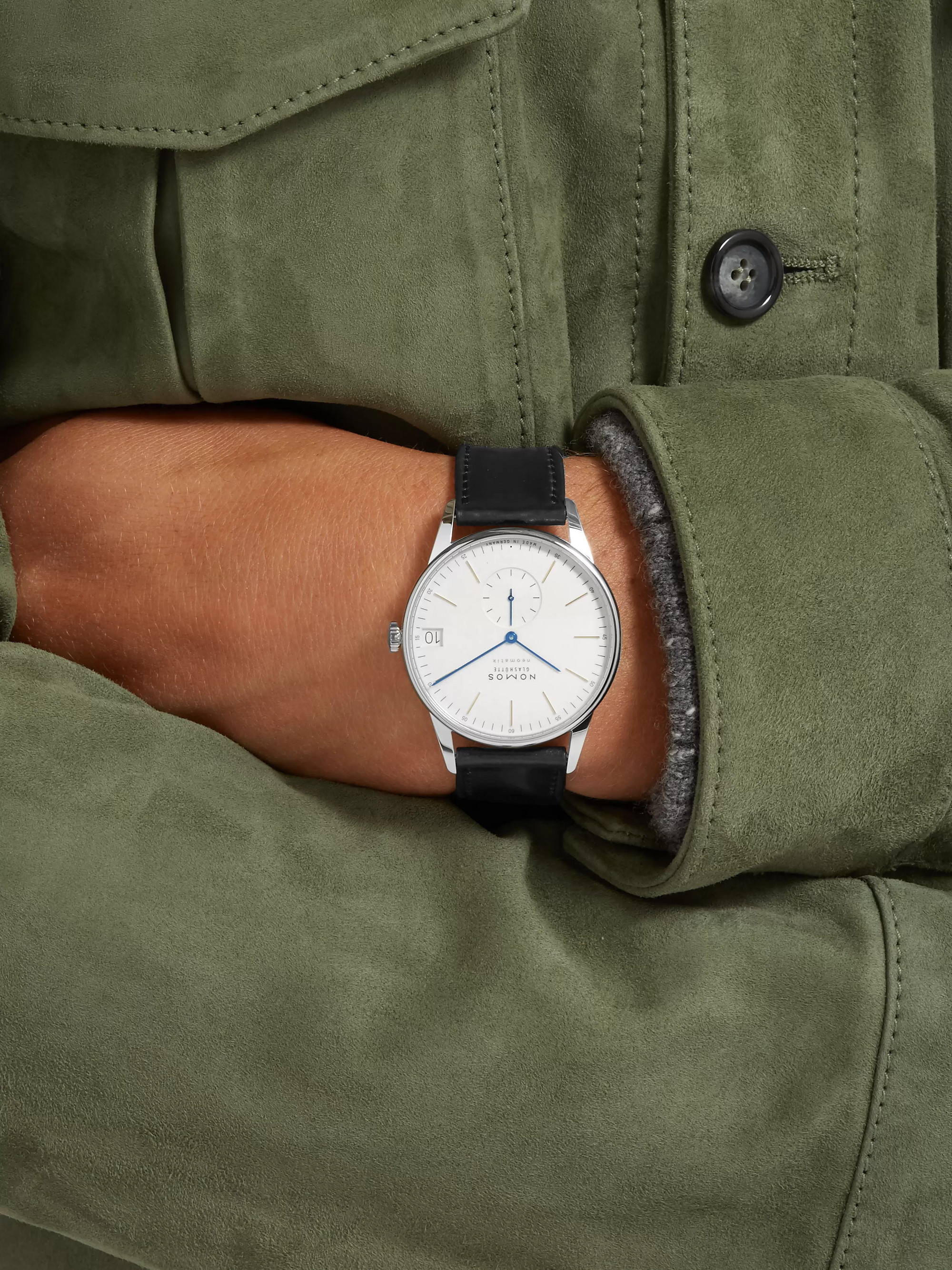 NOMOS Glashütte Orion Neomatik Automatic 41mm Stainless Steel and Leather Watch