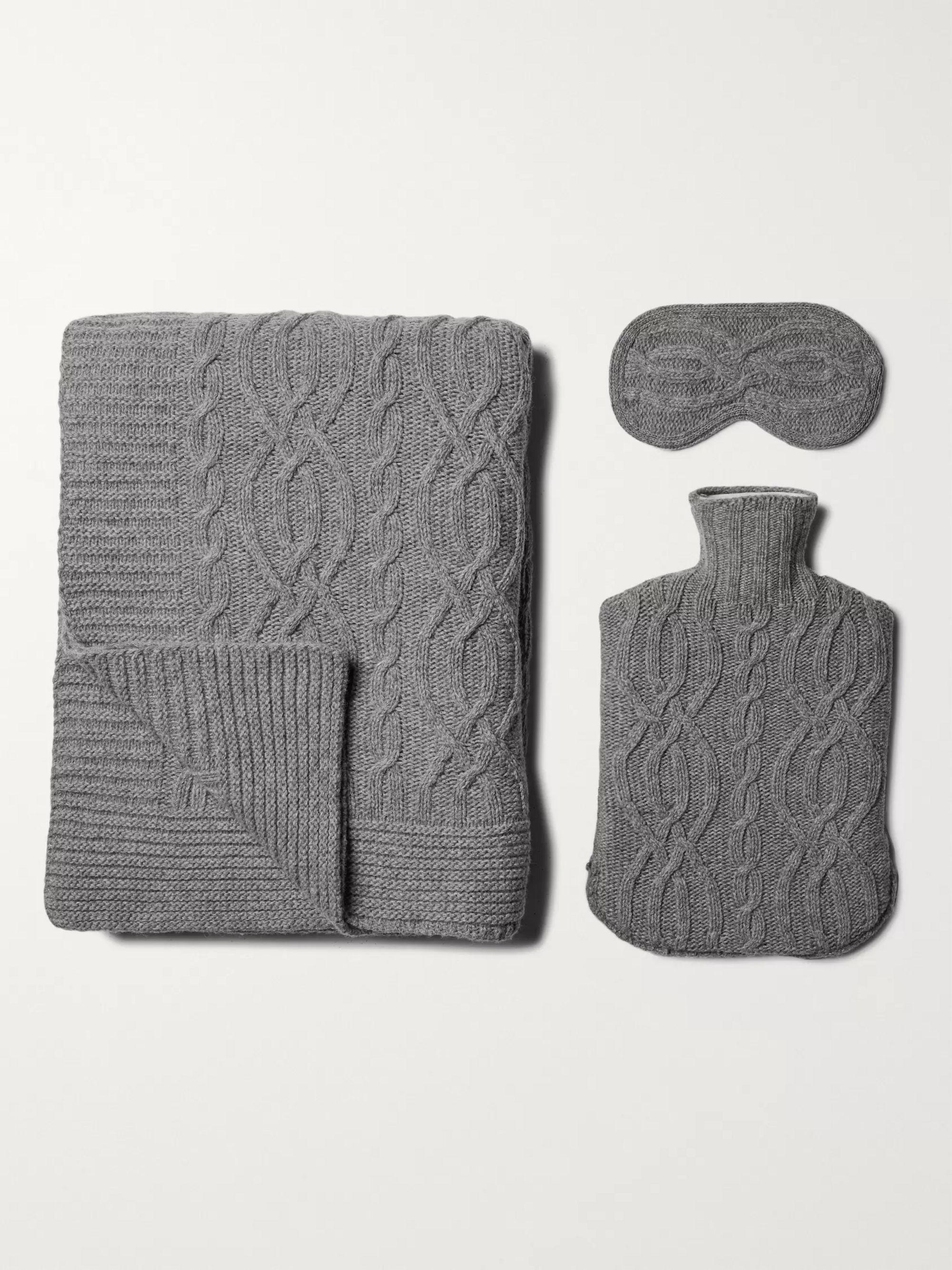 Soho Home Harrison Wool-Blend Sleep Set