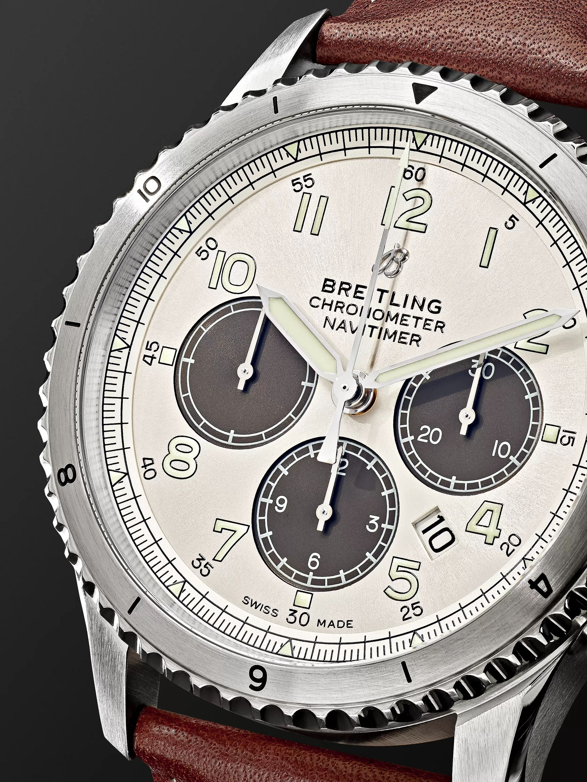 Breitling Navitimer 8 B01 Chronograph 43mm Stainless Steel and Leather Watch, Ref. No. AB01171A1G1X1