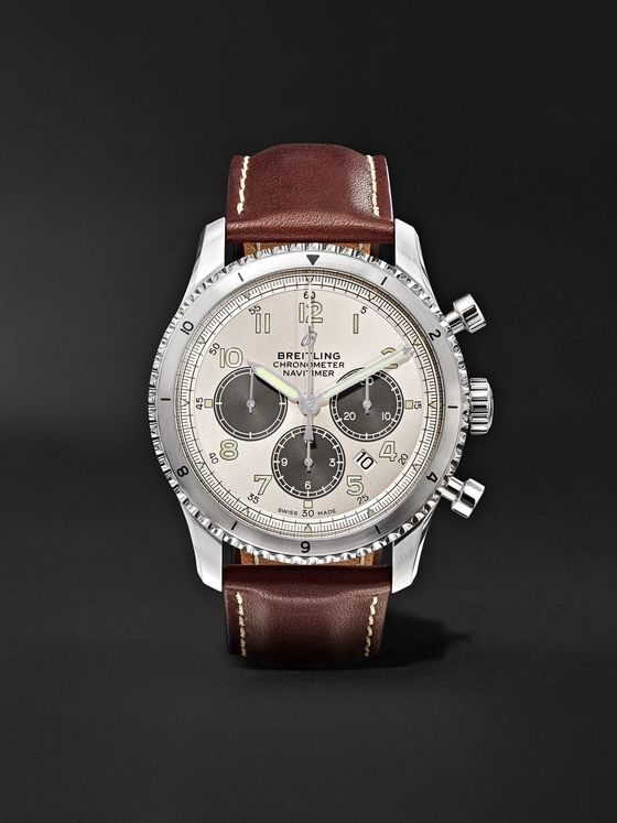 Breitling Navitimer 8 B01 Automatic Chronograph 43mm Stainless Steel and Leather Watch, Ref. No. AB01171A1G1P1