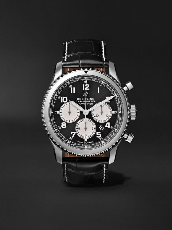 Breitling Navitimer 8 B01 Automatic Chronograph 43mm Stainless Steel and Alligator Watch, Ref. No. AB0117131B1P1