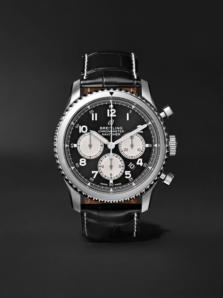 Breitling Navitimer 8 B01 Chronograph 43mm Stainless Steel and Alligator Watch, Ref. No. AB0117131B1P1