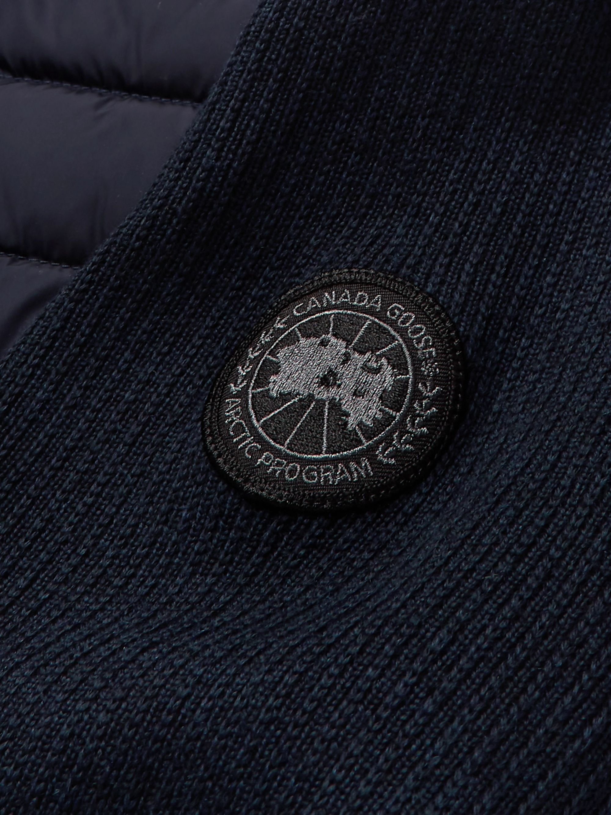 Canada Goose HyBridge Slim-Fit Merino Wool and Quilted Nylon Down Jacket