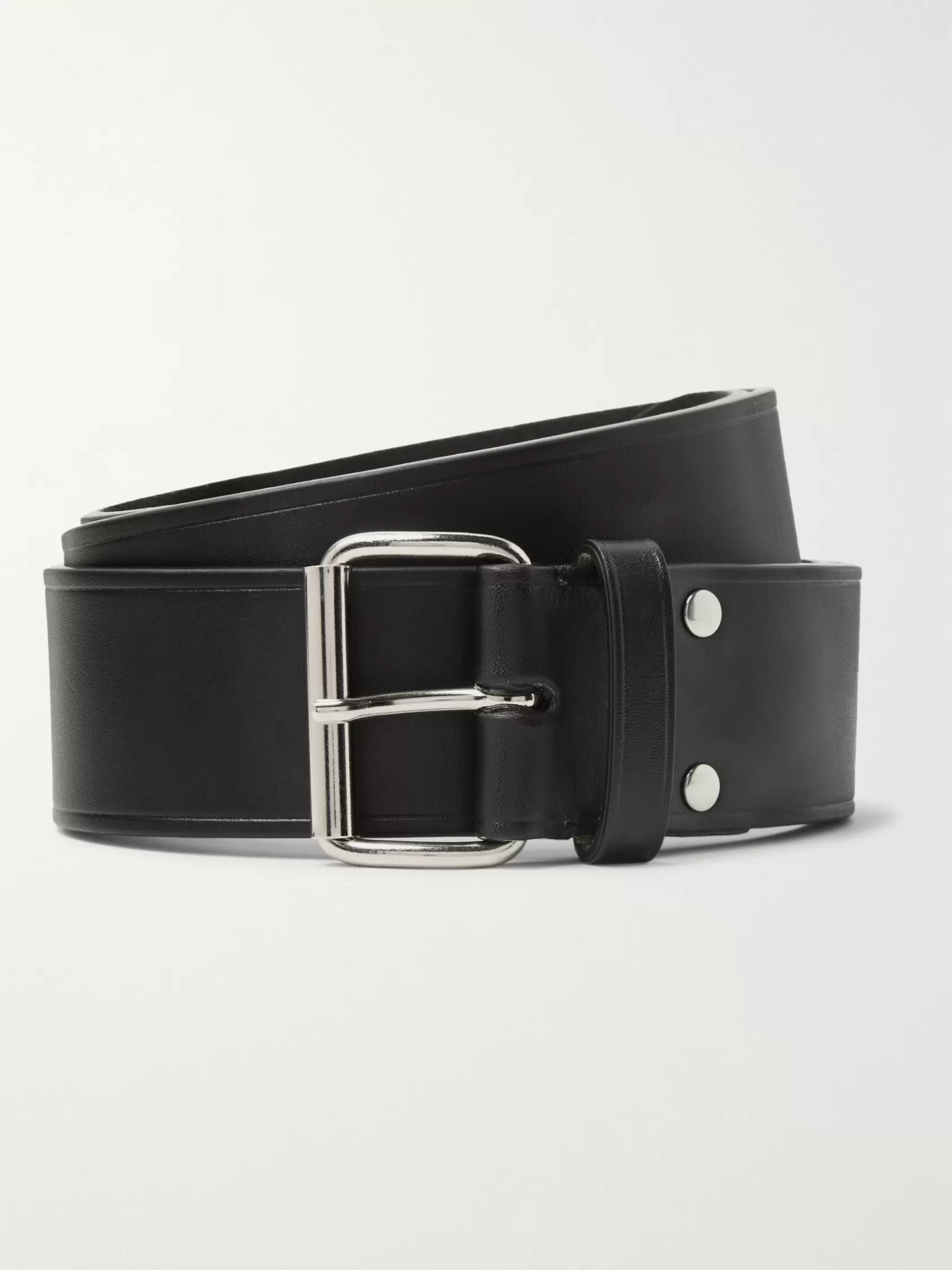 A.P.C. 4cm Brown Leather Belt