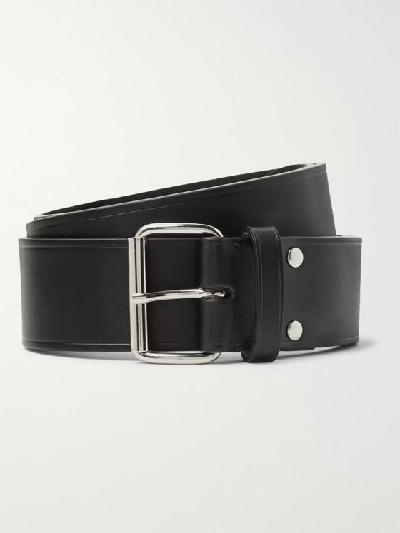 A.P.C. 4cm Black Leather Belt