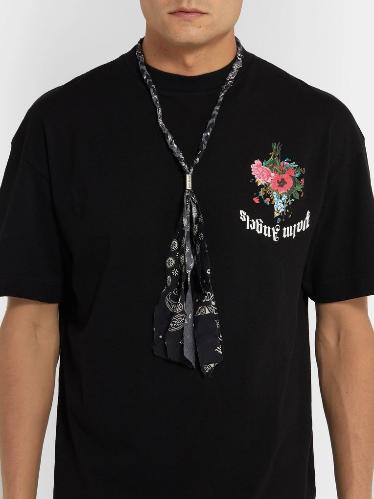 Palm Angels Printed Bandana Cotton Necklace