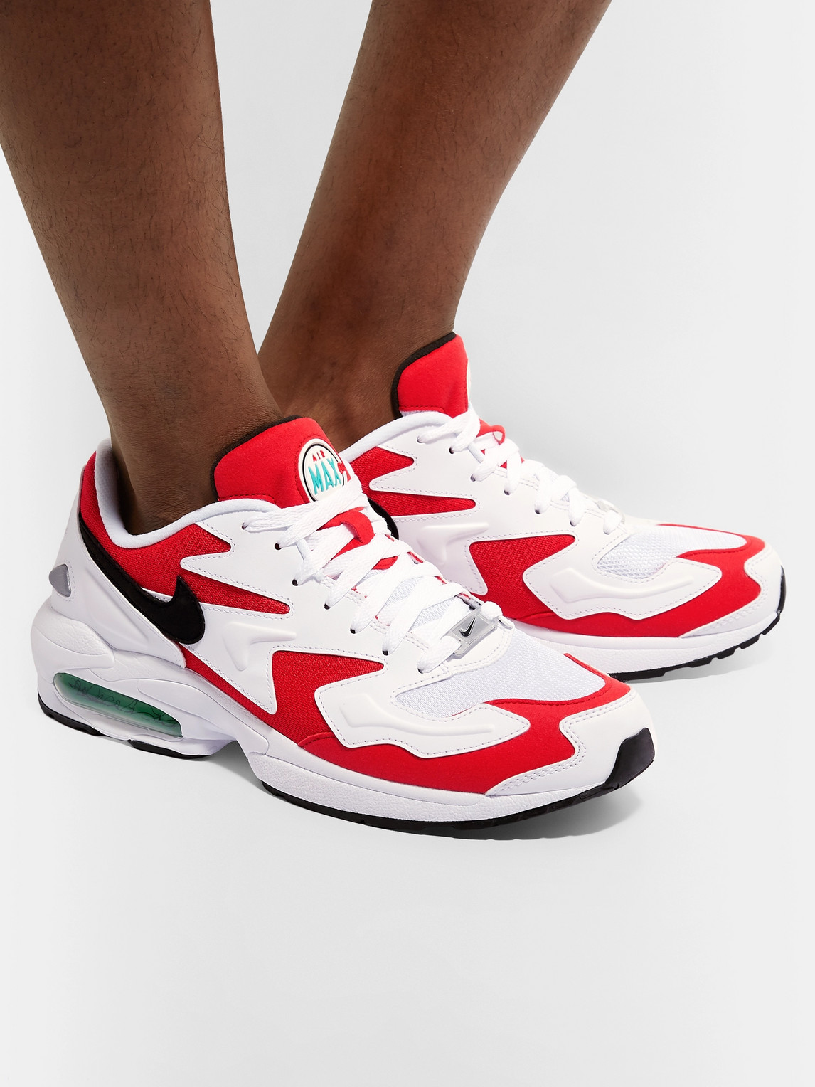 Nike Sneakers AIR MAX2 LIGHT LEATHER AND MESH SNEAKERS