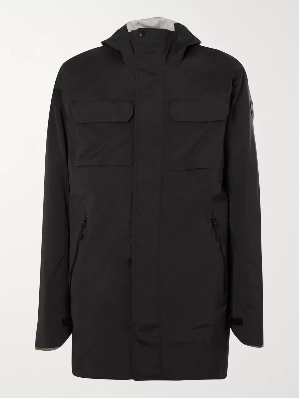 canada goose - wascana shell hooded jacket - men - black