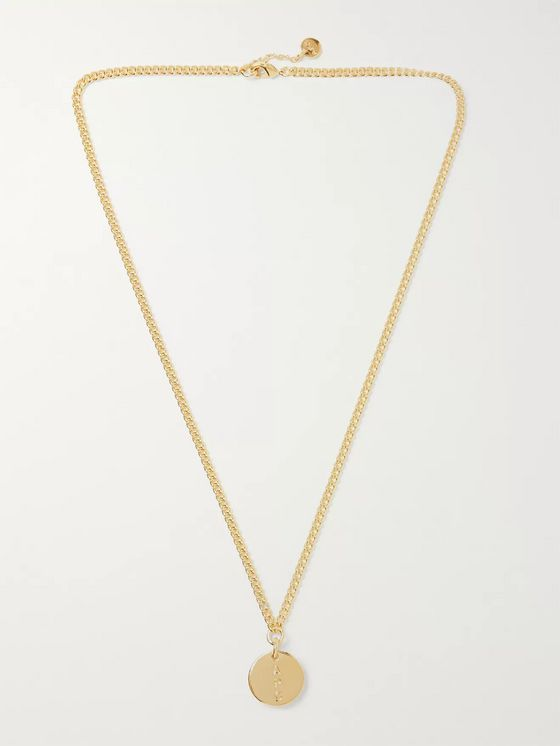 A.P.C. Casey Logo-Engraved Silver-Tone Necklace