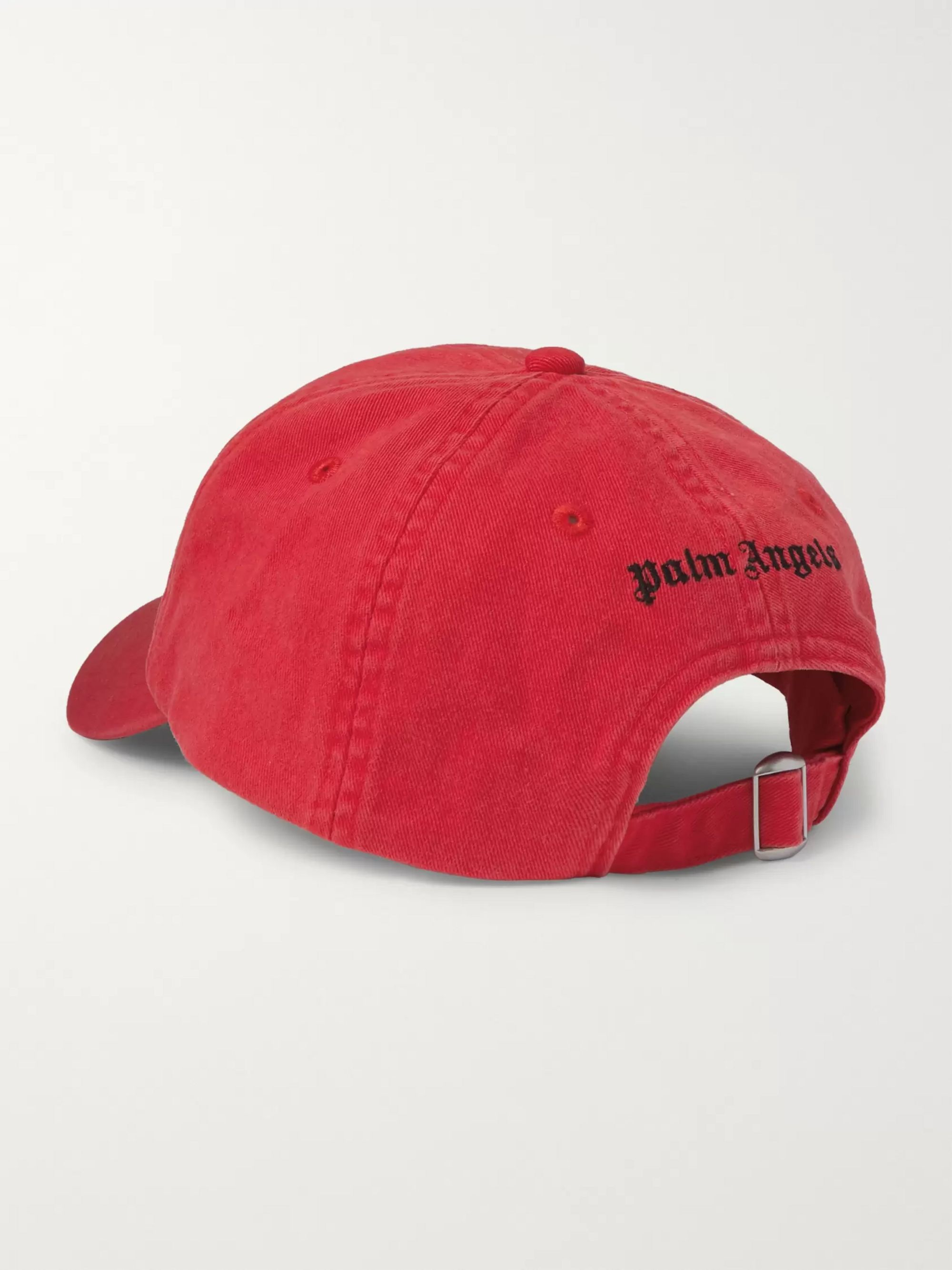 Palm Angels Logo-Embroidered Cotton-Twill Baseball Cap