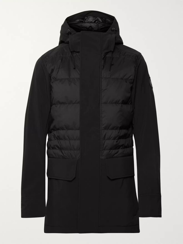 canada goose - breton tri-durance hooded down coat - men - black