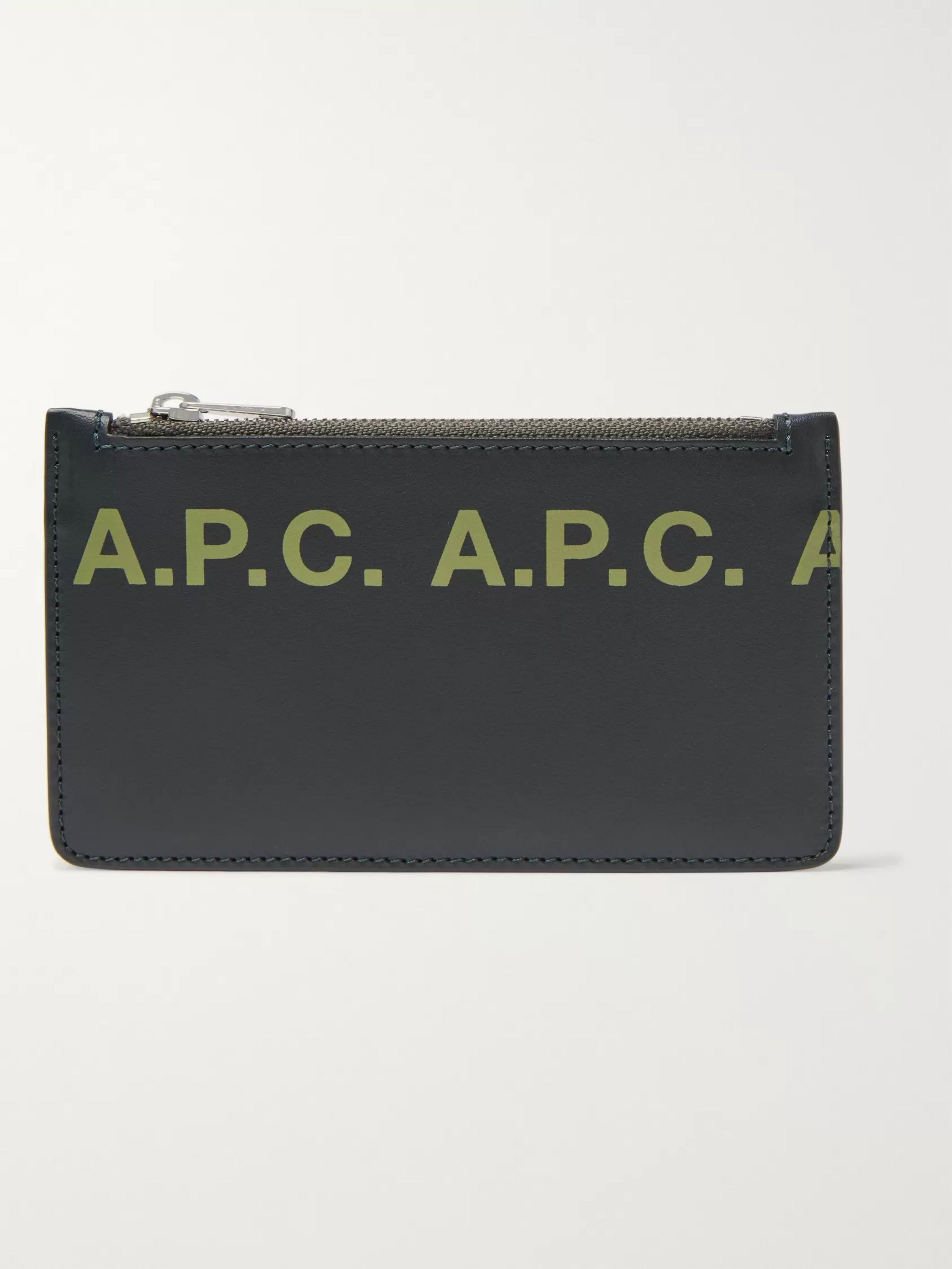 A.P.C. Logo-Print Leather Cardholder