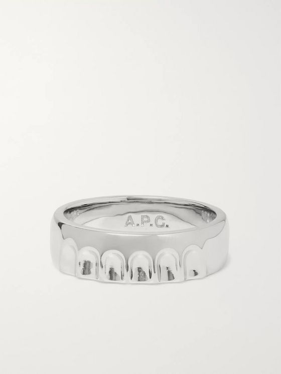 A.P.C. Bottle Cap Silver-Tone Ring