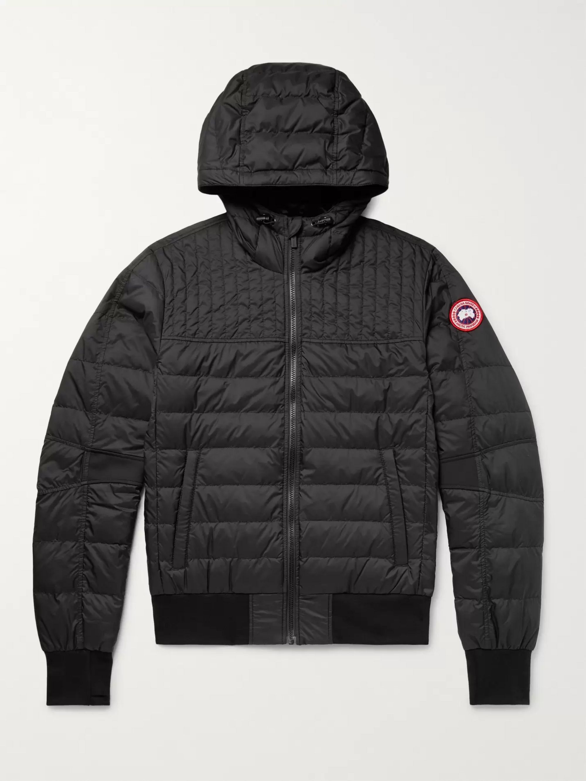 newest collection many fashionable release date Black Cabri Slim-Fit Quilted Nylon-Ripstop Hooded Down Jacket ...