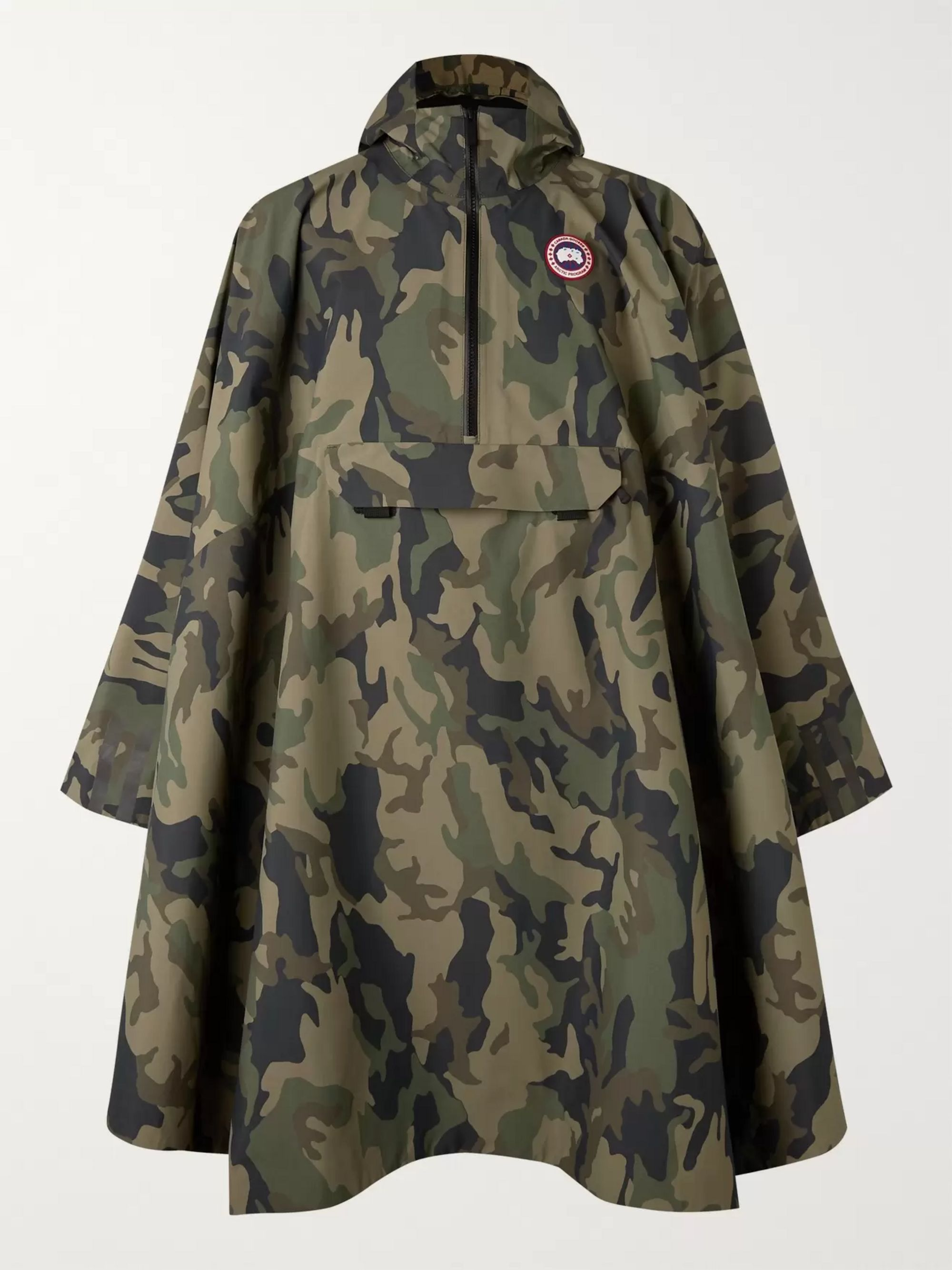 Canada Goose Field Camouflage-Print Shell Poncho