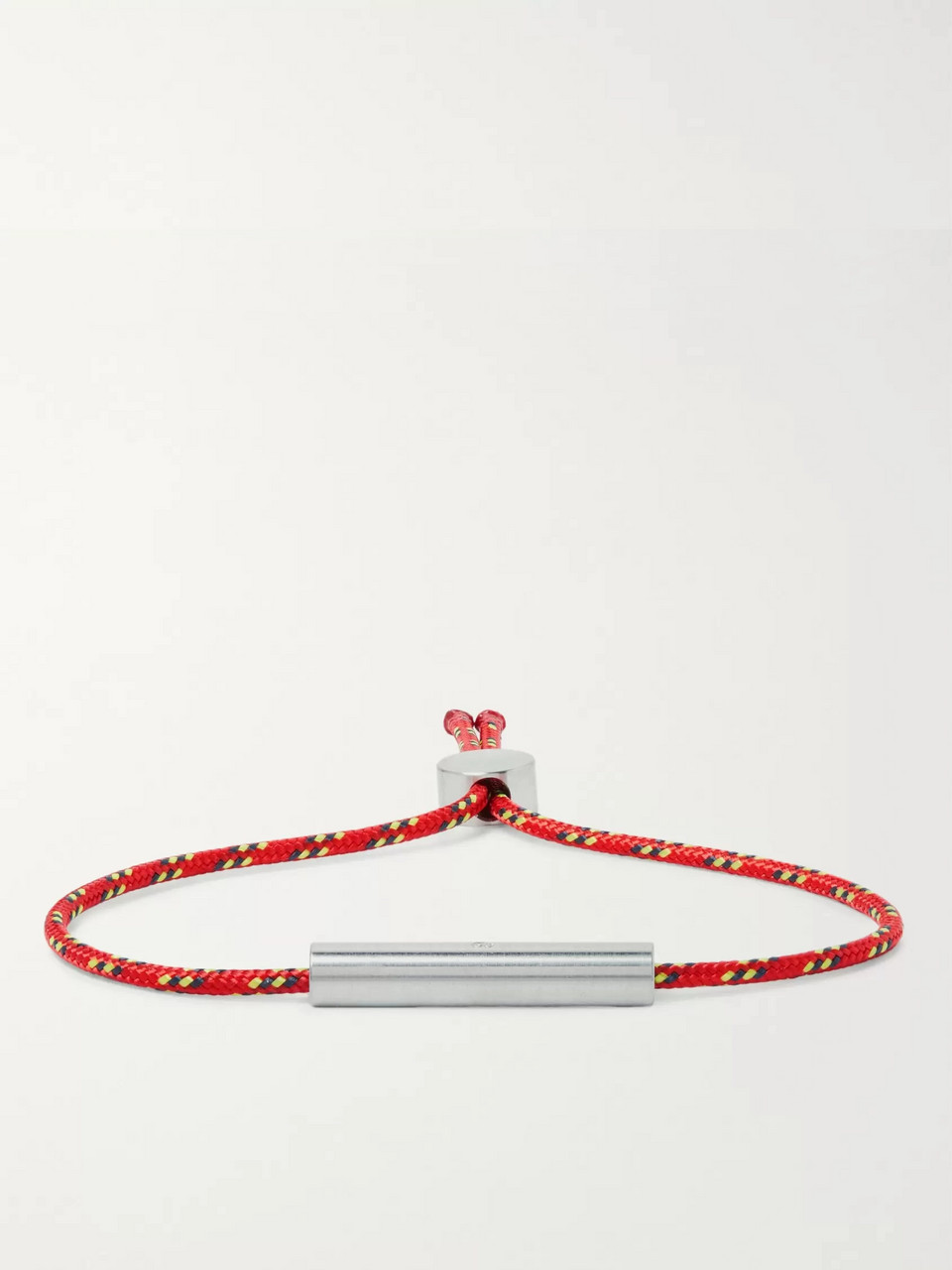 Alice Made This Charlie Striped Cord and Stainless Steel Bracelet
