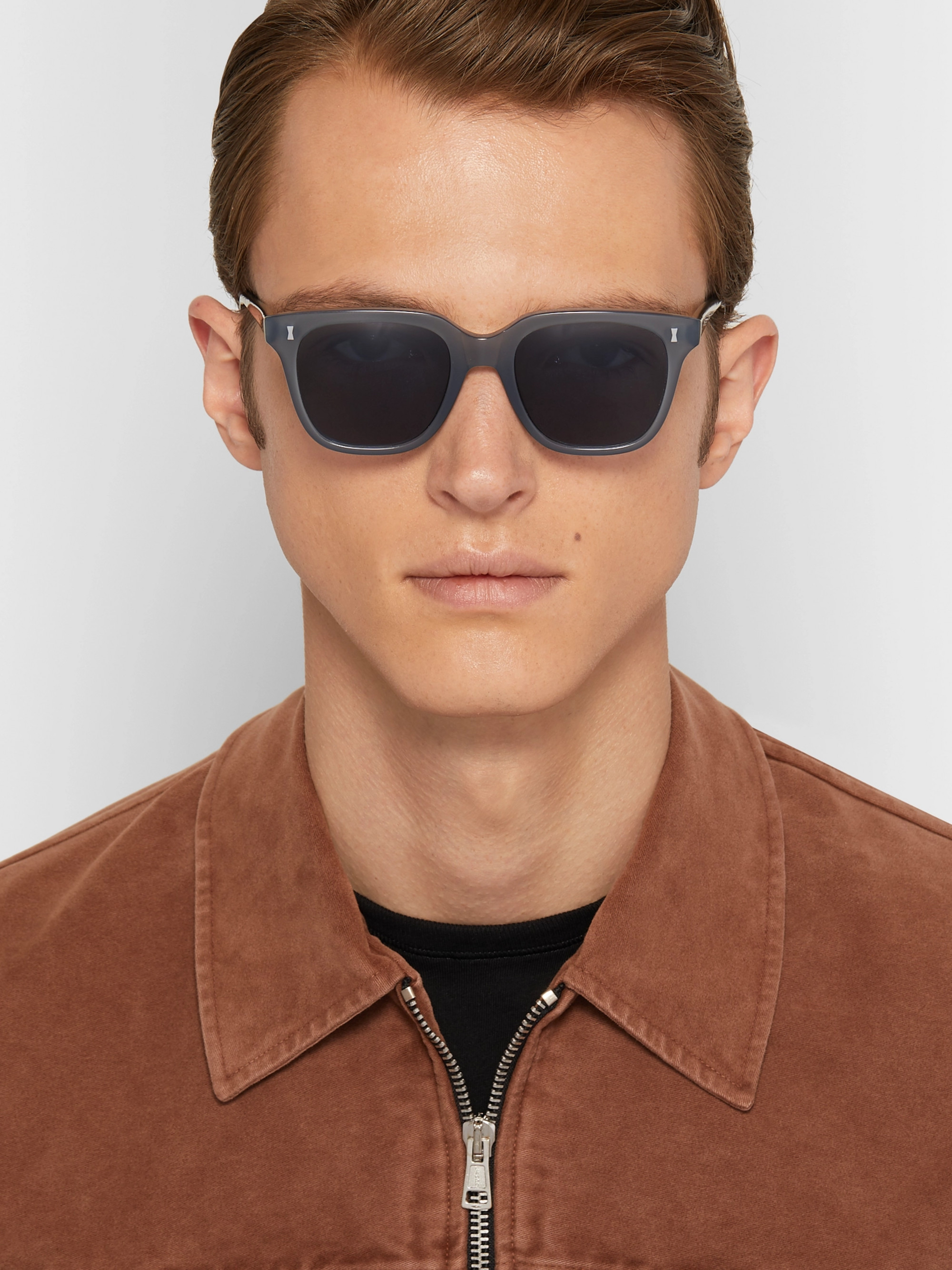 Cubitts Vernon Square-Frame Acetate Sunglasses