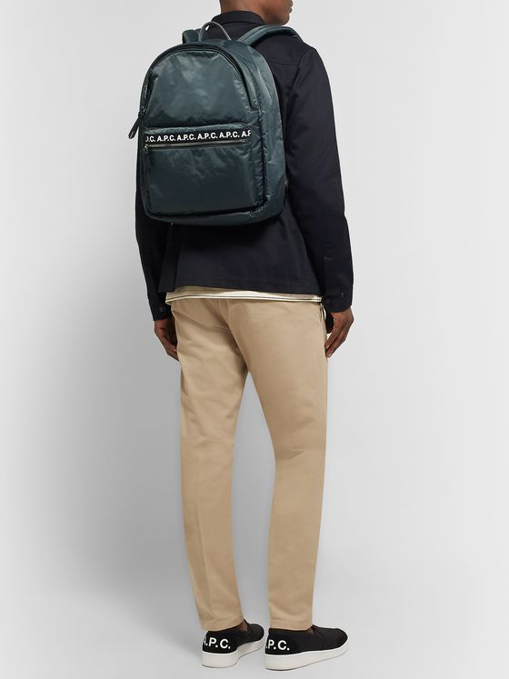 A.P.C. Logo-Print Nylon Backpack
