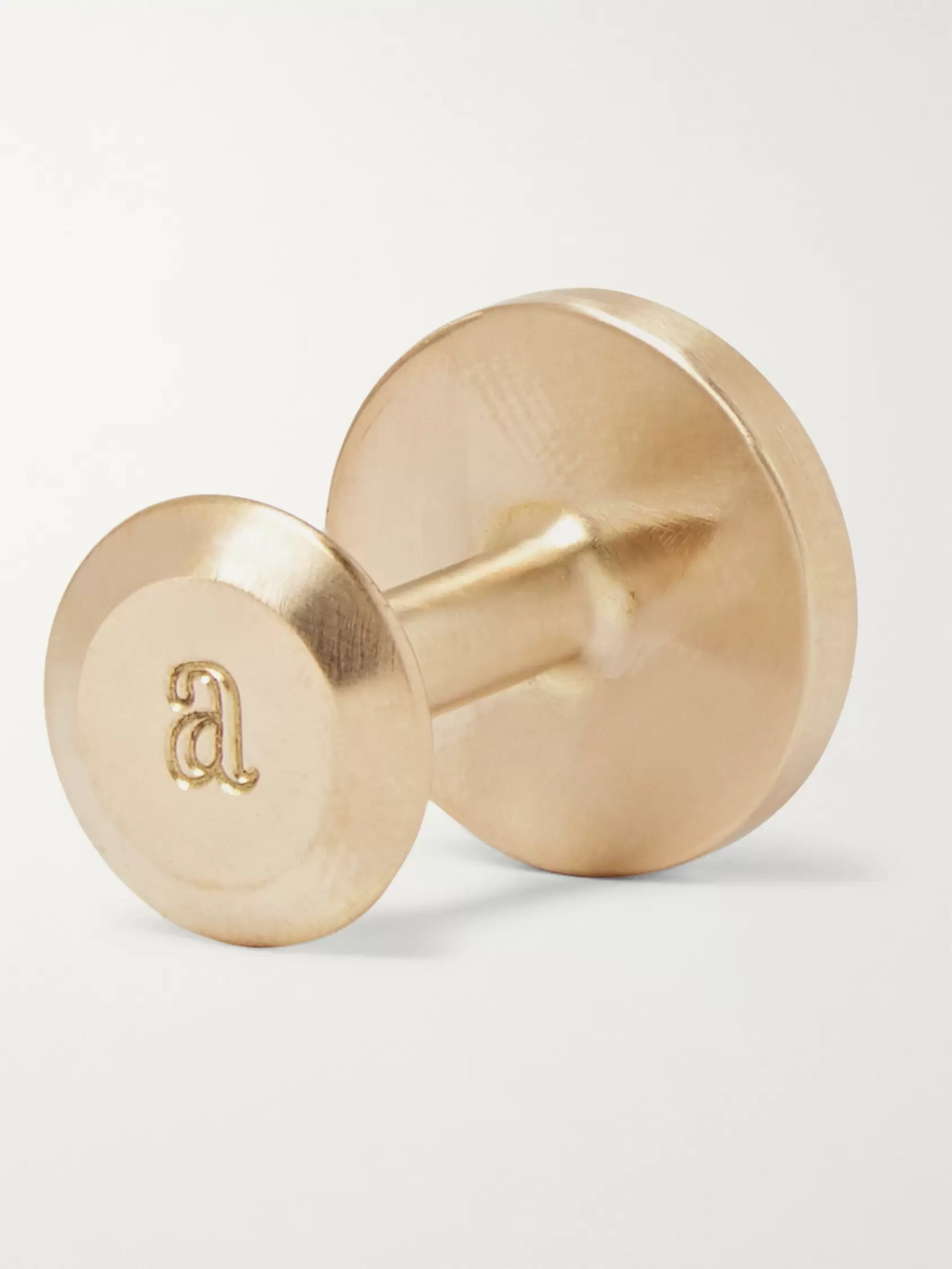 Alice Made This Bayley Gold-Tone Sage Patina Cufflinks