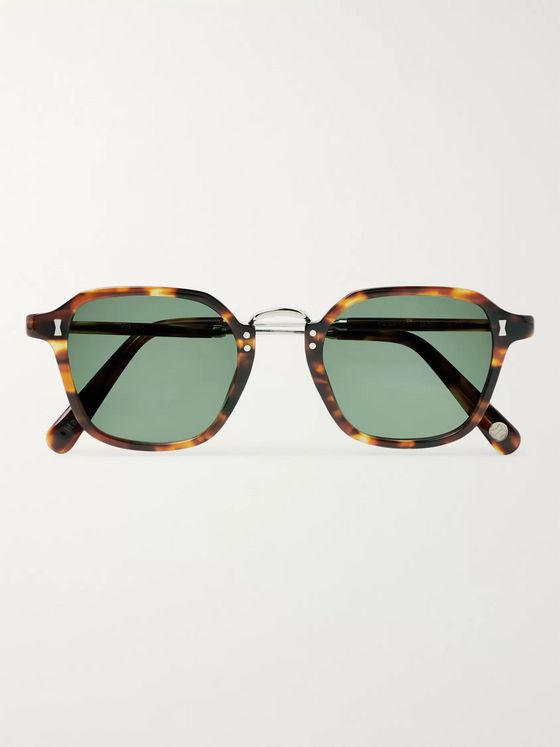 Cubitts Grafton Square-Frame Tortoiseshell Acetate Sunglasses