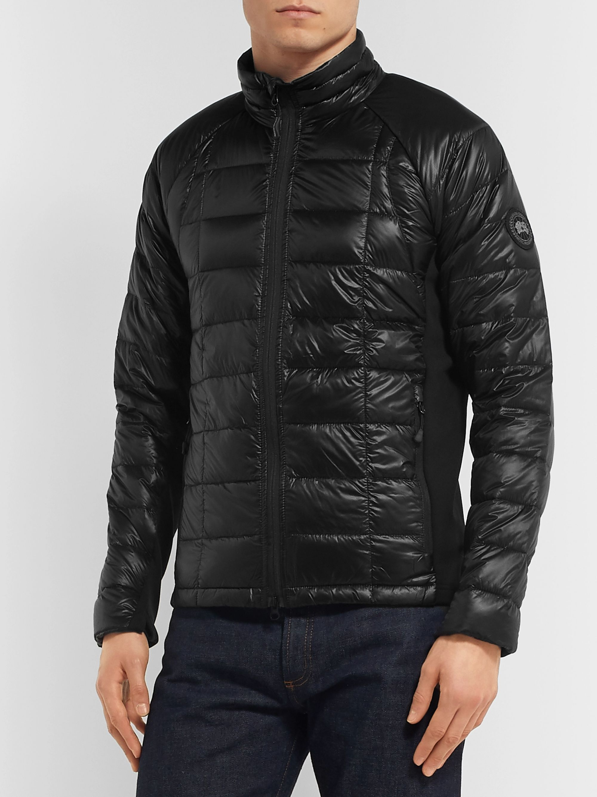 Canada Goose Hybridge Slim-Fit Packable Quilted Shell and Stretch-Jersey Down Jacket