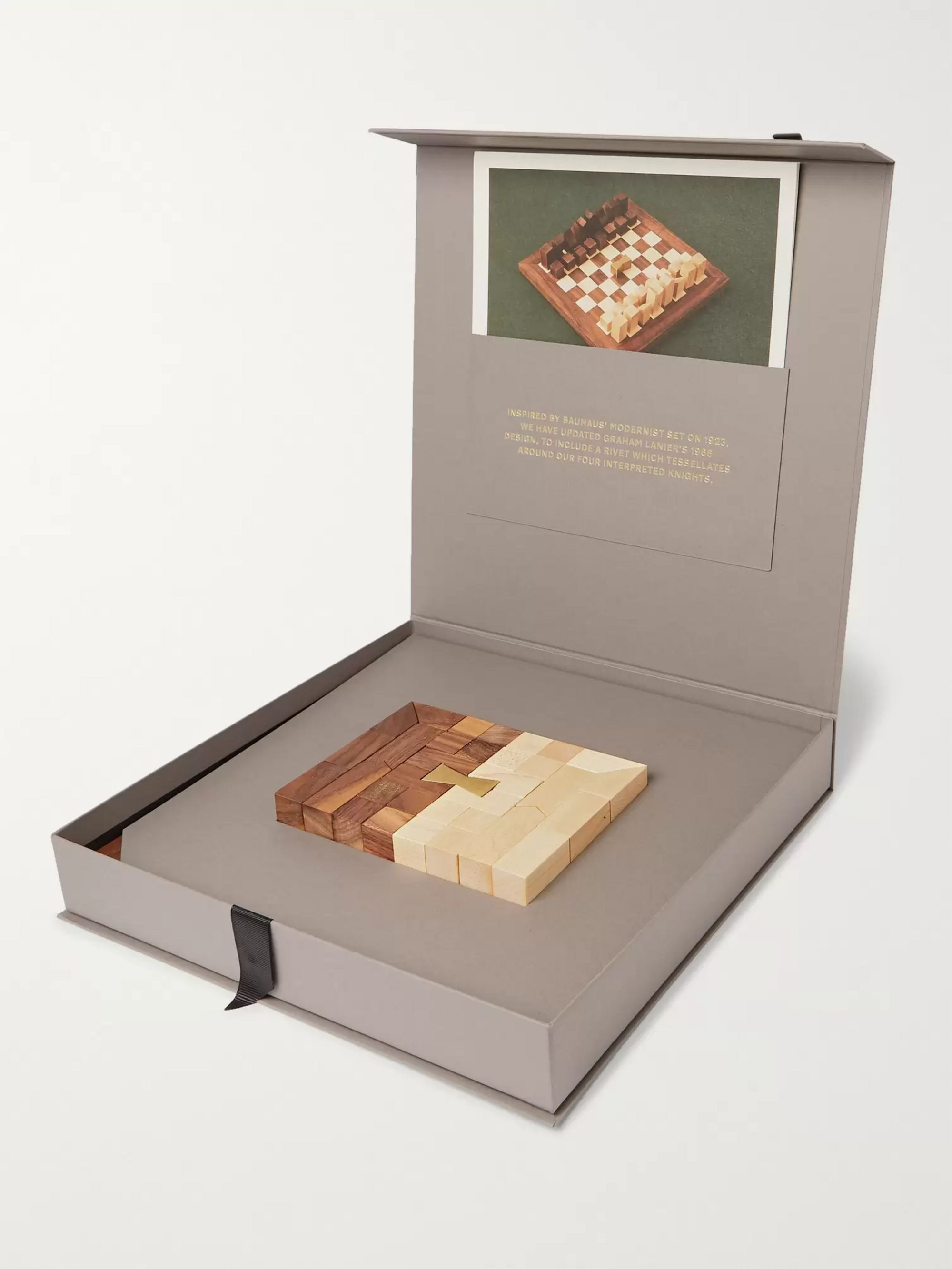 Cubitts Walnut and Maple Chess Set