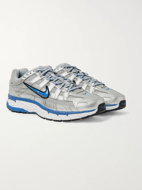 NIKE P-6000 Leather, Mesh and Rubber Sneakers