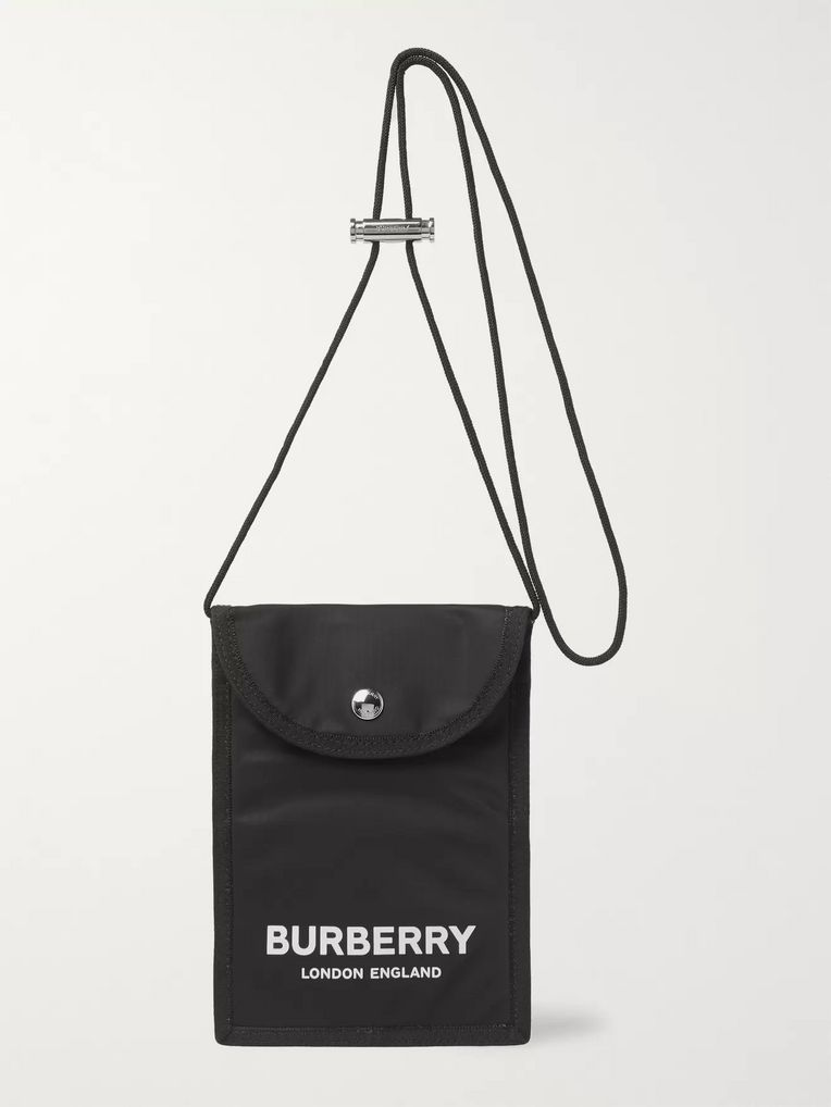 Burberry Logo-Print Nylon Messenger Bag