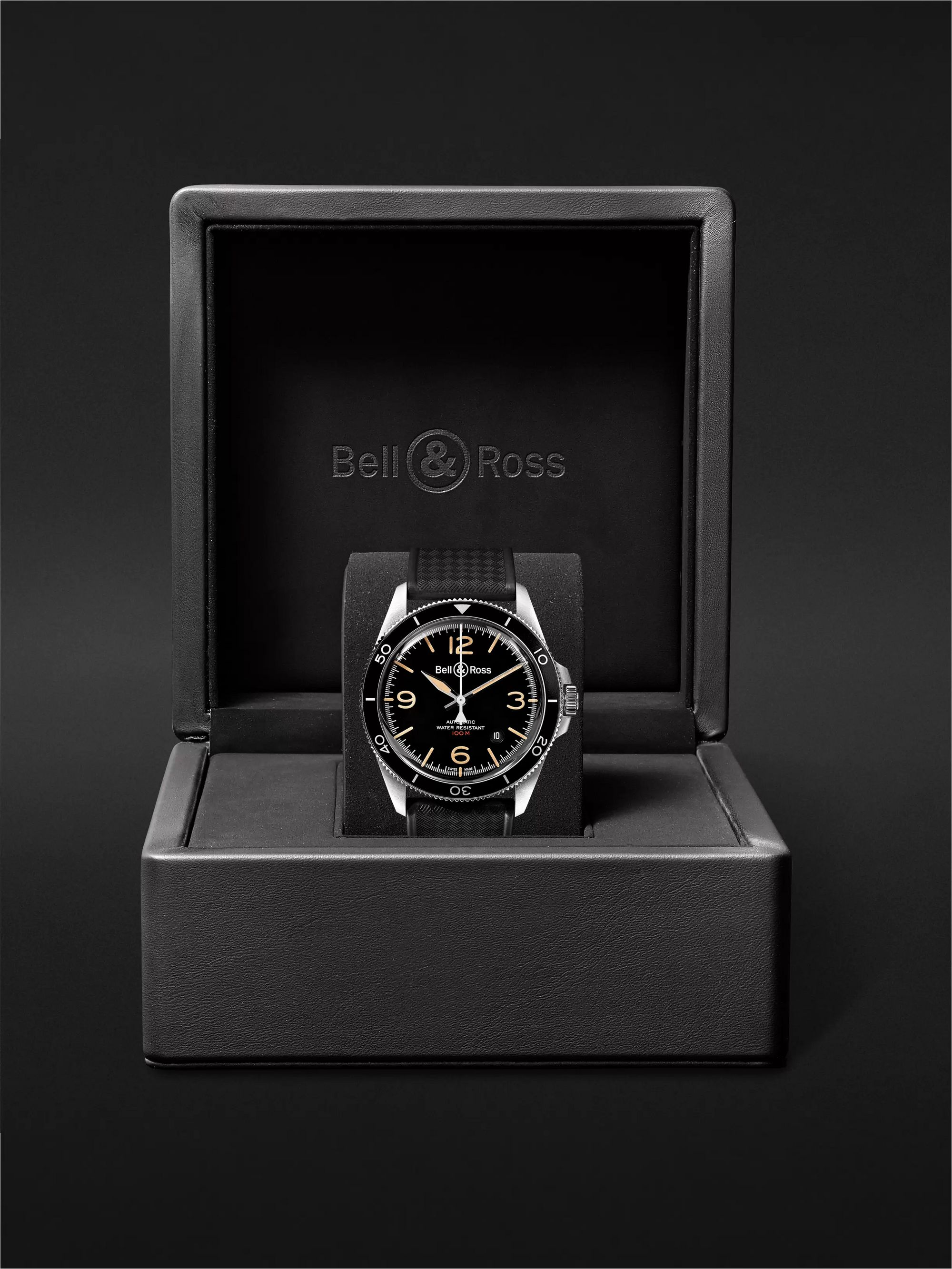 Bell & Ross BR V2-92 Steel Heritage Automatic 41mm Stainless Steel and Rubber Watch, Ref. No. BRV292-HER-ST/SRB