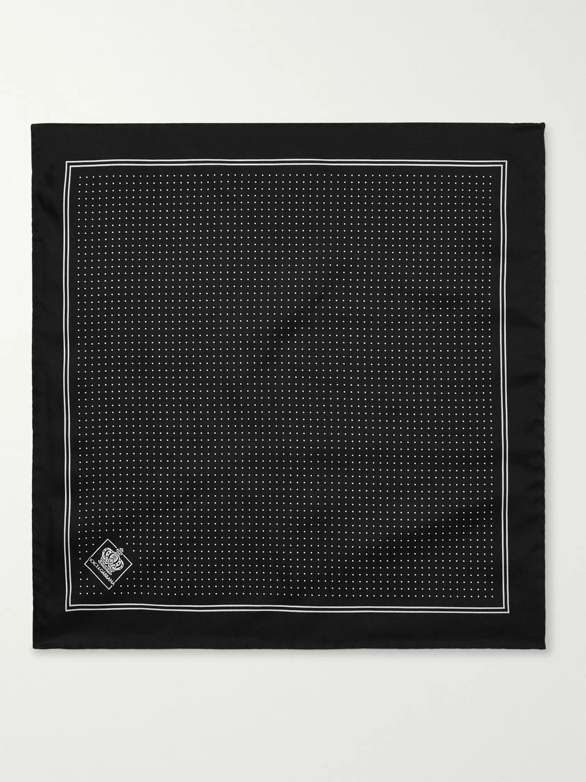 Dolce & Gabbana Pin-Dot Silk-Twill Pocket Square