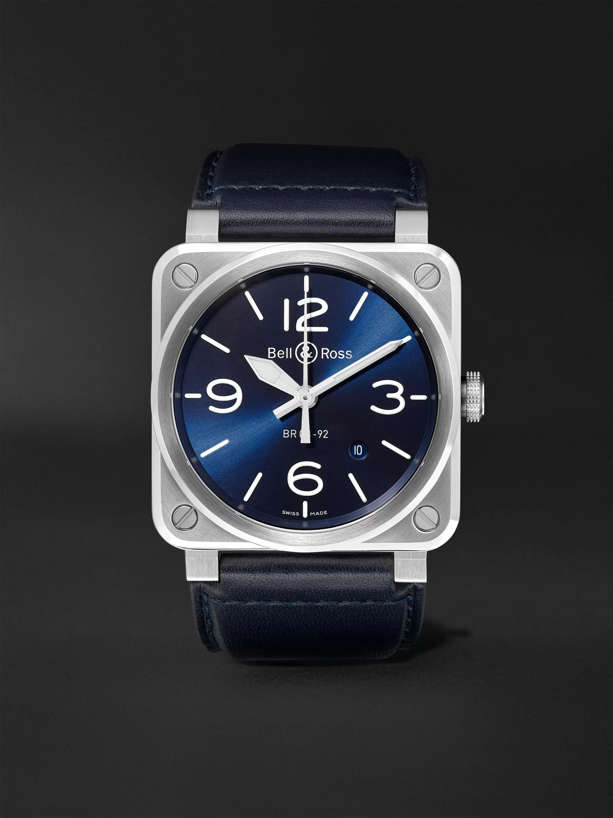 Bell And Ross Watches >> Br03 92 Automatic 42mm Ceramic And Rubber Watch