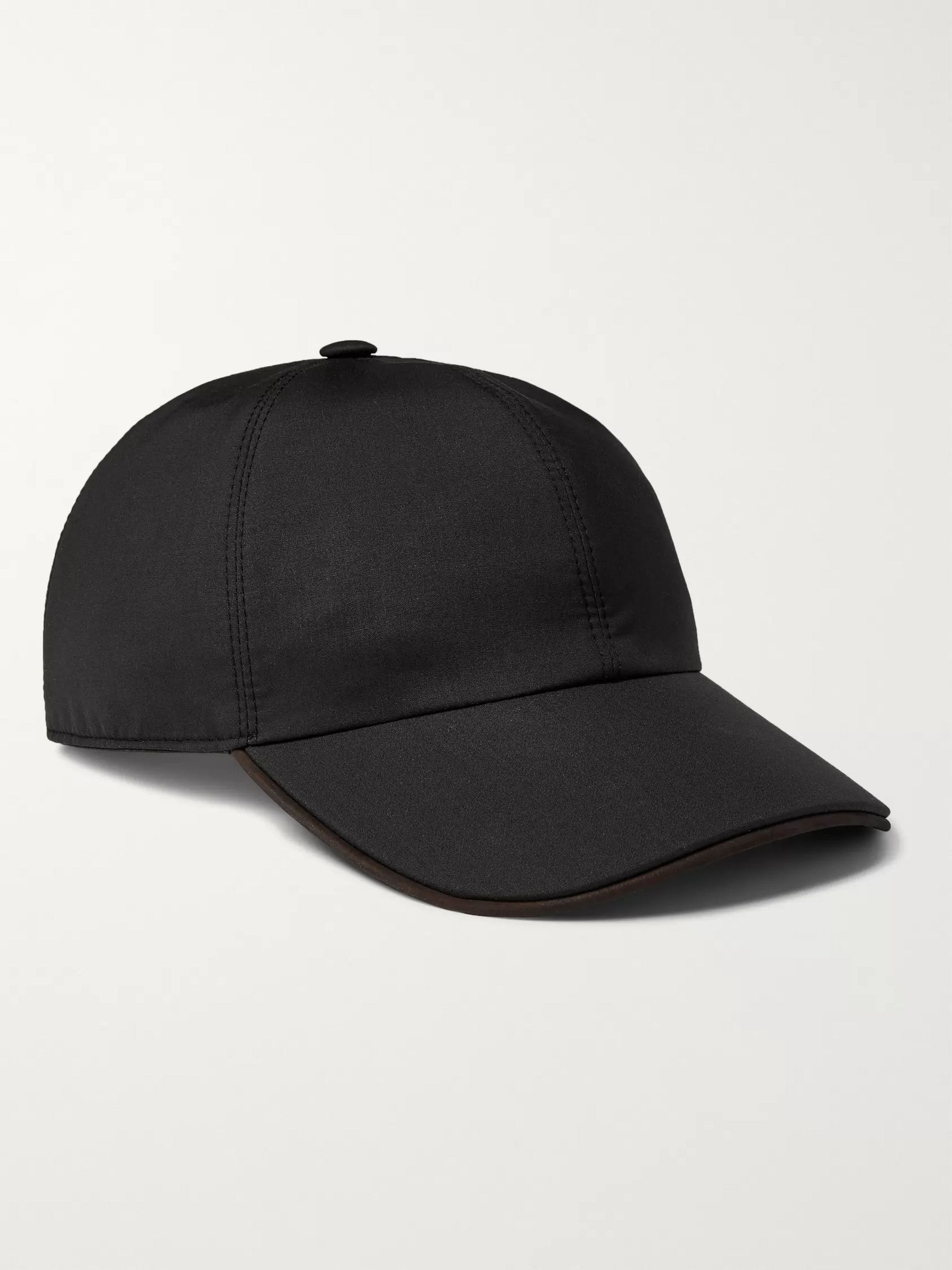 Ermenegildo Zegna Logo-Embroidered Wool and Silk-Blend Baseball Cap