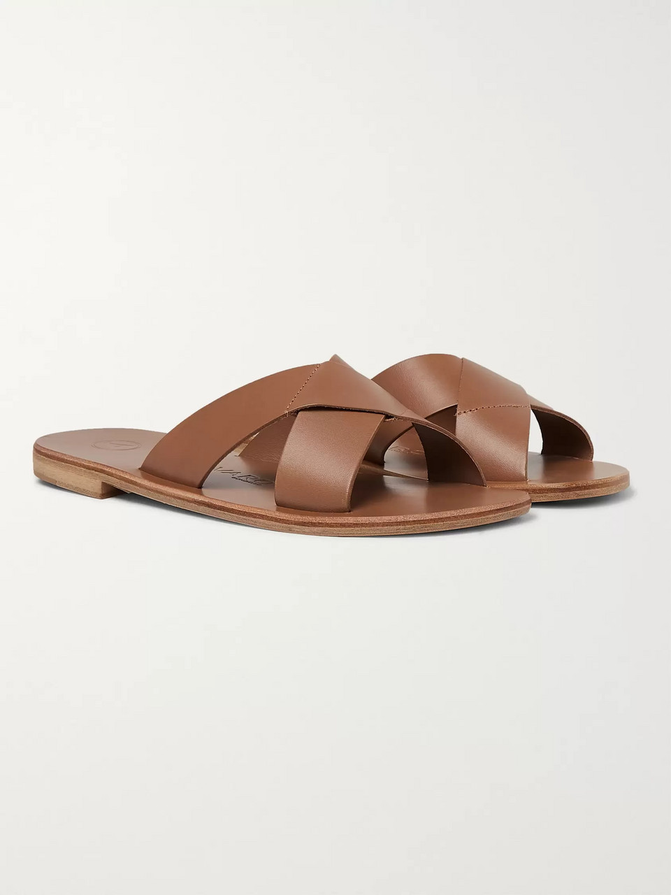 66d608846107 Light brown Antonio Leather Sandals