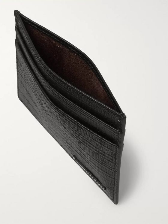 Ermenegildo Zegna Textured-Leather Cardholder
